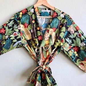 Frida Khalo Print Kimono